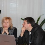 Е.А. Обухова, заместитель председателя Избирательной комиссии Томской области и Е.В. Ковалев, координатор образовательного события