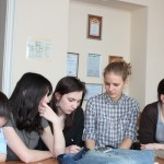 Команда Гуманитарного лицея за работой